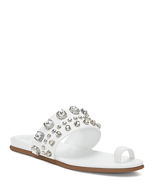 Vince Camuto Women's Emmerly Embellished Toe Ring Slide Sandals