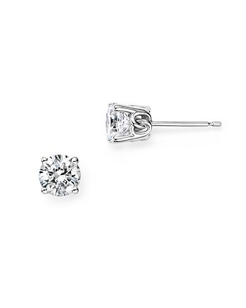 Bloomingdale's - Diamond Stud Earrings in 14K White Gold, 1.0 ct. t.w. - 100% Exclusive