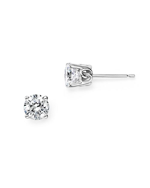 Bloomingdale S Diamond Stud Earrings In 14 Kt White Gold 0 25 Ct T W