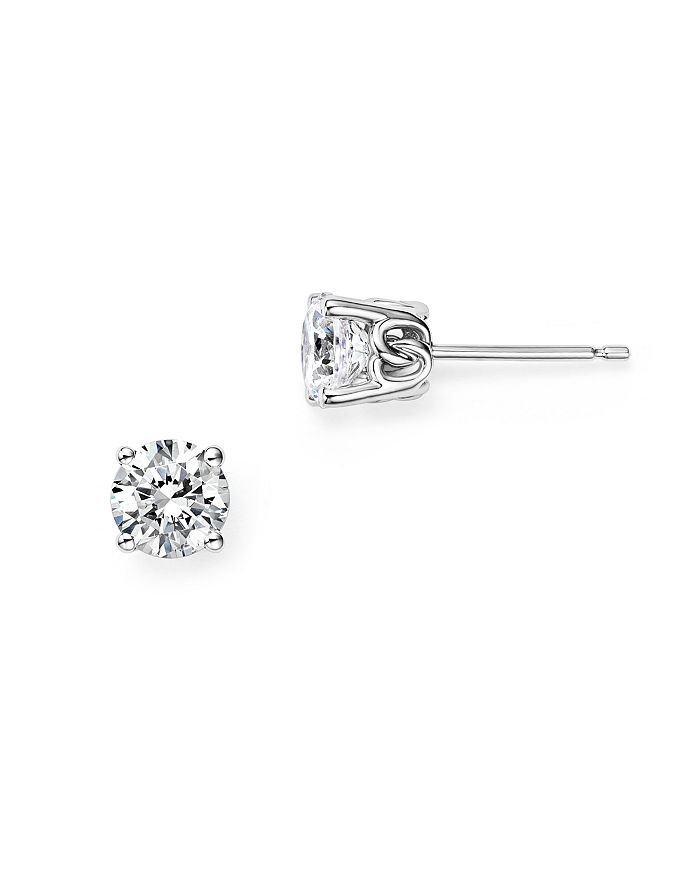 Diamond Stud Earrings In 14k White Gold 0 25 Ct T W 1 100 Exclusive