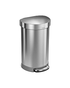 simplehuman - 45L Semi-Round Step Can with Liner Rim