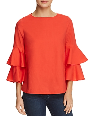 BeachLunchLounge Tiered Bell Sleeve Top