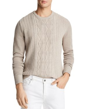 The Men's Store at Bloomingdale's Knit Twist Crewneck Sweater - 100% Exclusive