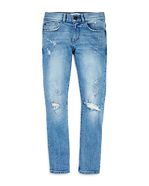 DL1961 Boys LightWash Distressed Skinny Jeans  Big Kid