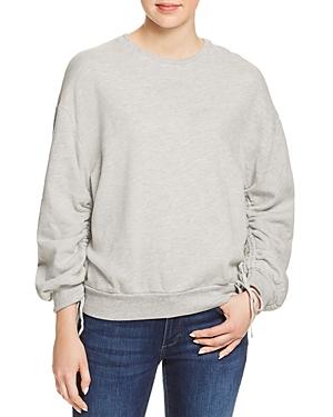 Ag Karis Ruched-Sleeve Sweatshirt