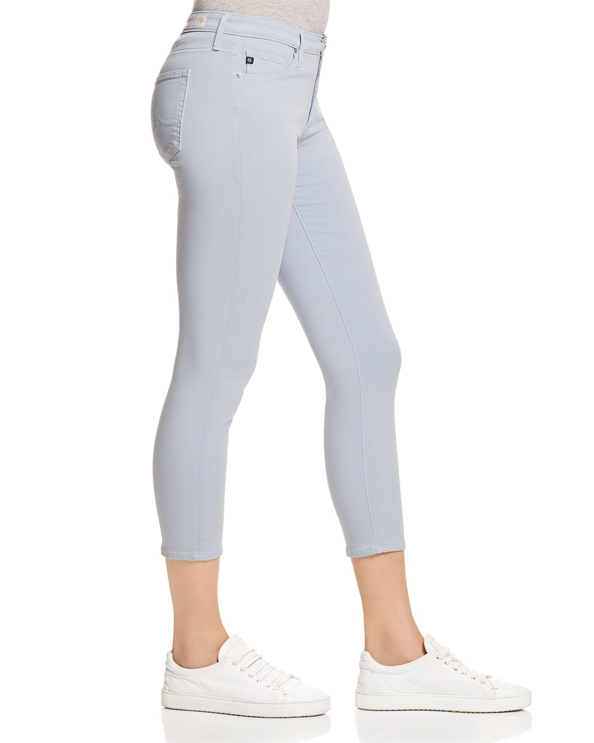 Prima Crop Skinny Jeans In Wondrous Blue   100 Percents Exclusive by Ag