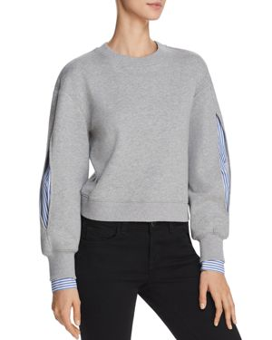 Derek Lam 10 Crosby Layered-Look Sweatshirt