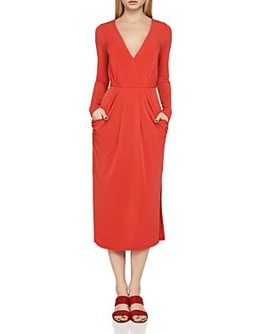 BCBGeneration Long Sleeve Faux-Wrap Dress