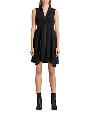 Allsaints Jayda Zip-Front Dress