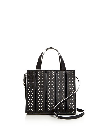 $Max Mara Small Whitney Perforated Leather Satchel - Bloomingdale's