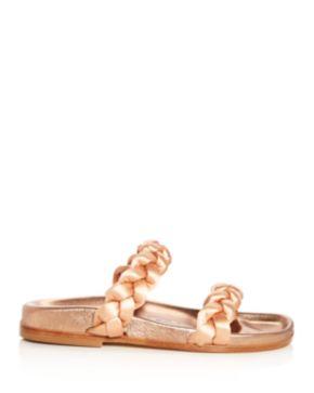 Oscar de la Renta Women's Charlee Satin Braid Slide Sandals HkcI3raIa