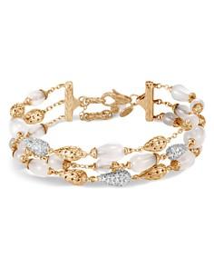 John Hardy 18K Yellow Gold Classic Chain Pavé Diamond & White Moonstone Multi-Strand Bracelet - Bloomingdale's_0