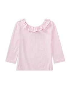 Polo Ralph Lauren Girls' Ruffled Off-the-Shoulder Tee - Big Kid - Bloomingdale's_0