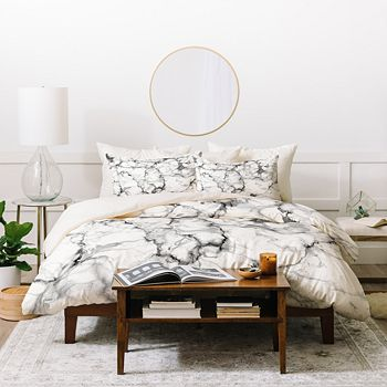 Deny Designs - Chelsea Victoria Marble Duvet Cover Set, King