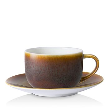 Royal Crown Derby - Art Glaze Flamed Caramel Cappuccino Cup