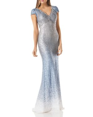 OMBRE SEQUIN GOWN