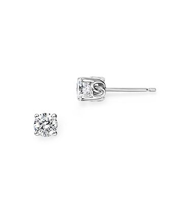 Bloomingdale's - Diamond Stud Earrings in 14K White Gold, 0.50 ct. t.w. - 100% Exclusive