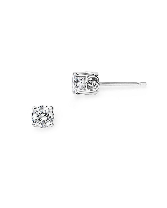 Bloomingdale's - Diamond Stud Earrings in 14 Kt. White Gold, 0.50 ct. t.w. - 100% Exclusive