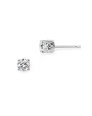 Diamond Stud Earrings in 14K White Gold, 0.50 ct. t.w. - 100% Exclusive