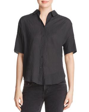 rag & bone/Jean Textured Short-Sleeve Button-Down Shirt 2847219