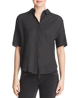 rag & bone/Jean Textured Short-Sleeve Button-Down Shirt