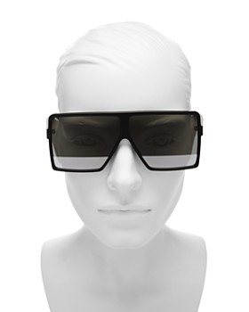 Saint Laurent - Women's SL 183 Betty Square Shield Sunglasses, 63mm