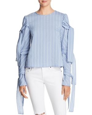 Endless Rose Striped Tie-Sleeve Top