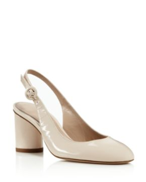 Stuart Weitzman Patent Leather Slingback Pumps