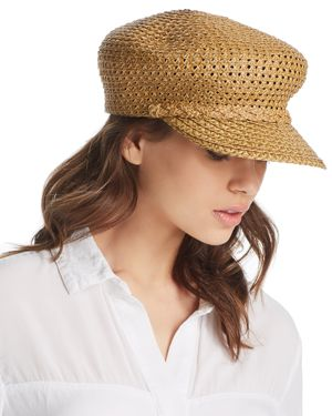 Capitan Woven Squishee Newsboy Hat in Natural
