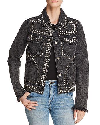 AQUA - Embellished Denim Jacket - 100% Exclusive