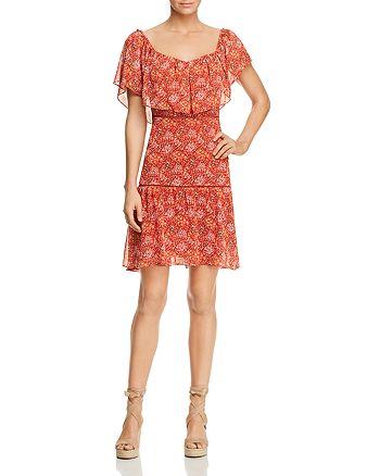 Rebecca Minkoff - Lynne Shoulder-Detachable Ruffle Floral-Print Dress