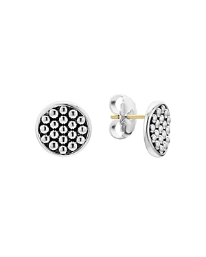 Lagos Sterling Silver Bold Caviar Button Stud Earrings