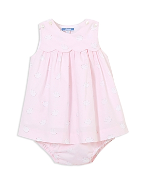 Jacadi Girls' Bird Print Dress & Bloomers Set - Baby