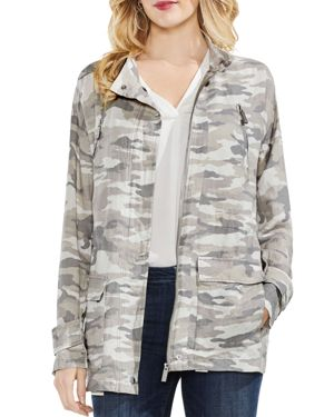 Vince Camuto Avenue Camo Belted Military Jacket 2846859
