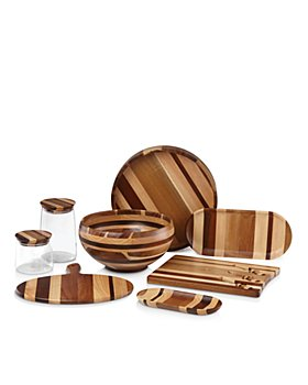 Dansk - Signy Striped Wood Serveware