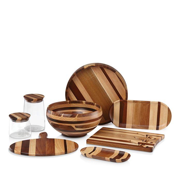 Dansk - Signy Striped Wood Serveware