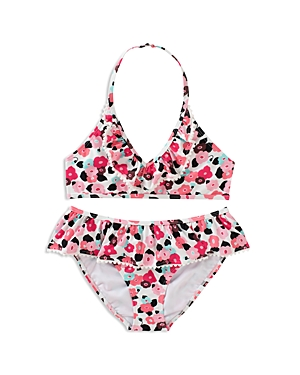 kate spade new york Girls Ruffled Blooming Floral 2Piece Swimsuit  Big Kid