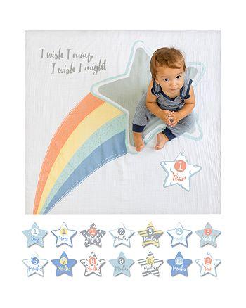 Lulujo - I Wish I May Shooting Star Baby Blanket & Age Cards Set