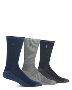 Polo Ralph Lauren Heather Crew Socks, Pack of 3 - Bloomingdale's_0