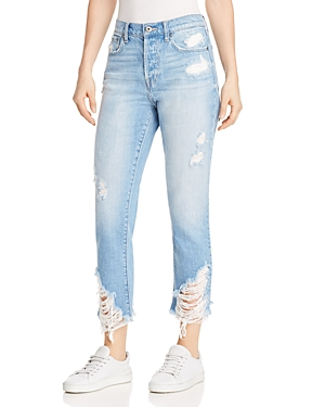 Pistola Charlie Distressed Straight-Leg Jeans in Rumor Has It