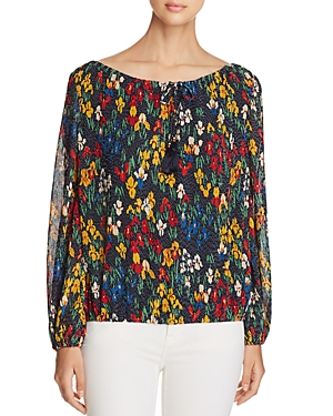 Tory Burch Josephine Floral Dot Peasant Blouse