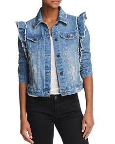 Bagatelle Ruffled Denim Jacket - Bloomingdale's_0