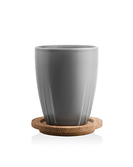 Kosta Boda - Bruk Mug with Oak Lid, Set of 2