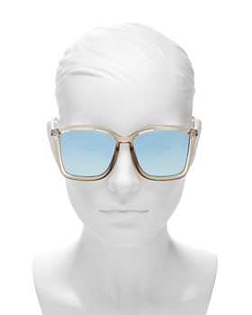 Le Specs - Women's It Aint Baroque Oversized Mirrored Square Sunglasses, 60mm