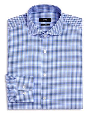 Boss Checked Overlay Regular Fit Dress Shirt