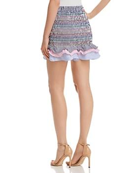 Do and Be - Rainbow Smocked Mini Skirt