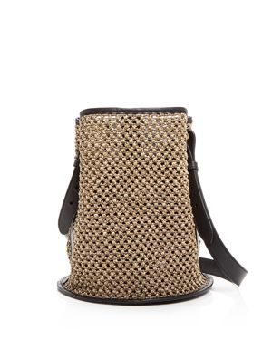 CREATURES OF COMFORT SMALL RAFFIA BUCKET BAG