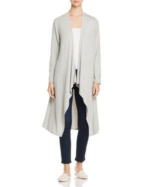 ALISON ANDREWS DRAPED OPEN-FRONT DUSTER CARDIGAN
