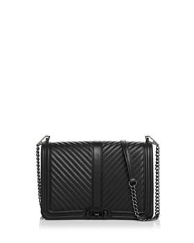 Rebecca Minkoff - Love Chevron Quilted Jumbo Leather Crossbody