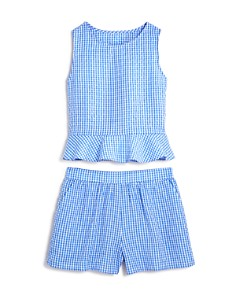AQUA Girls' Ruffled Gingham Top & Shorts, Big Kid - 100% Exclusive - Bloomingdale's_0